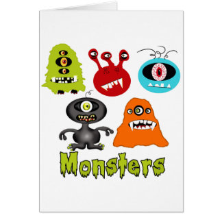 Scary Spooky Monsters Aliens Creatures Note Card