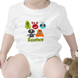 Scary Spooky Monsters Aliens Creatures Romper