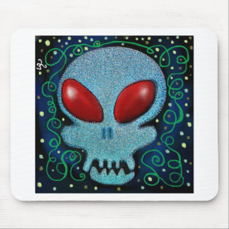 Scary Sunday Skull Mouse Pad