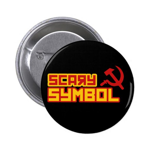Scary Symbol Hammer and Sickle Pin