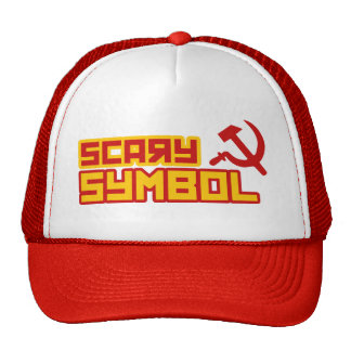 Scary Symbol Hammer and Sickle Trucker Hat