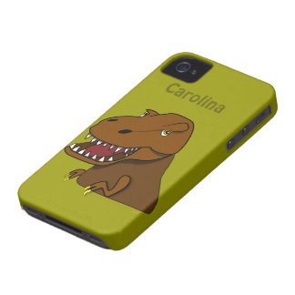 Scary T-Rex Tyrannosaurs Rex Dinosaur Custom Name iPhone 4 Cases