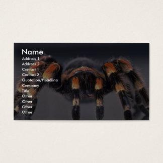 Scary Tarantula spider Business Card