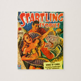 Scary Two-headed Space Eel Jigsaw Puzzle