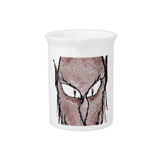 Scary Vampire Drawing Beverage Pitchers