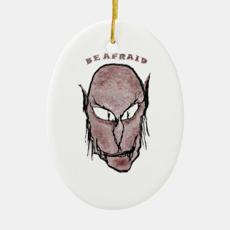 Scary Vampire Drawing Ceramic Ornament