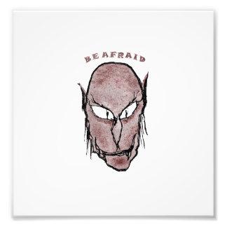Scary Vampire Drawing Photo Print