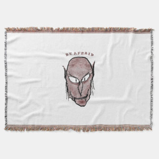 Scary Vampire Drawing Throw Blanket
