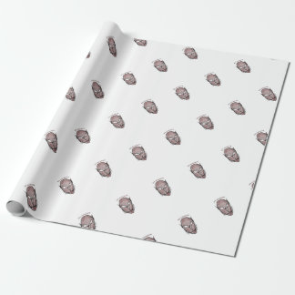 Scary Vampire Drawing Wrapping Paper