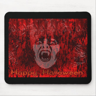Scary Vampire Lady in Blood Mousepad