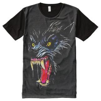 Scary Werewolf Dark Horror Airbrush Art All-Over Print T-Shirt