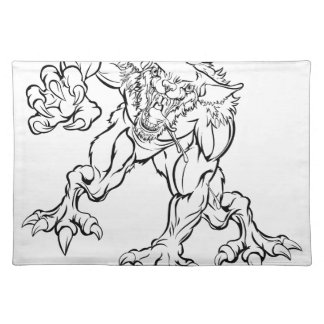 Scary Werewolf  Monster Character Placemat