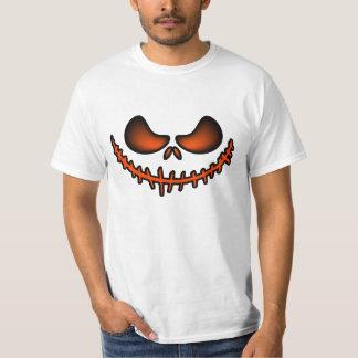 Scary White Jack O Lantern Halloween Smile T-Shirt