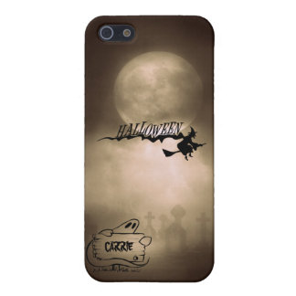 Scary Witch Ghost Cemetery Happy Halloween Case For iPhone 5/5S
