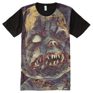 Scary Zombie Doll Horror Dark Art All-Over Print T-Shirt