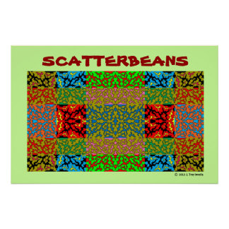 Scatterbeans Multi Color Collage Poster