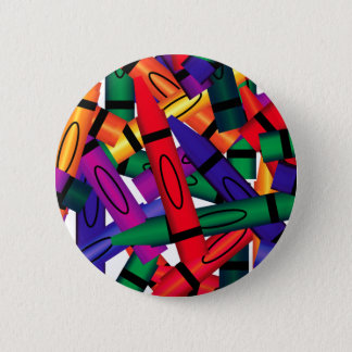 Scattered Crayons Button