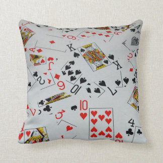Scattered Deck Of Cards, Throw Cushion. Cushion