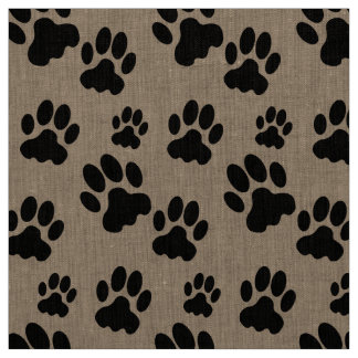 Scattered Dog Paw Marks Fabric