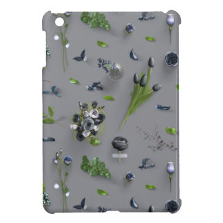 Scattered Flowers Black iPad Mini Cover