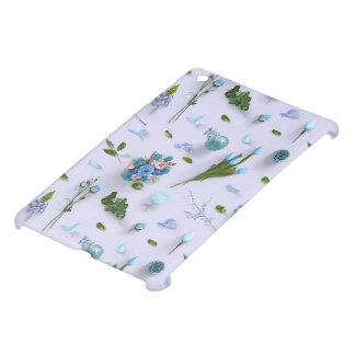 Scattered Flowers Blue Case For The iPad Mini