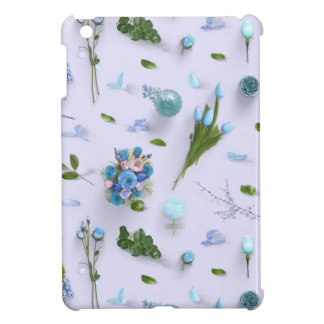 Scattered Flowers Blue iPad Mini Case