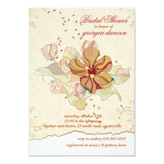 Scattered Flowers Invitation