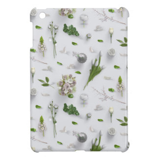 Scattered Flowers White iPad Mini Case
