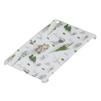 Scattered Flowers White iPad Mini Covers