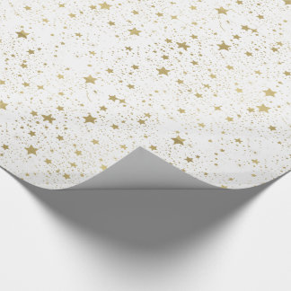 Scattered Gold Stars Wrapping Paper