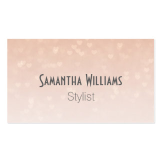 Scattered Hearts Dusty Rose Business Cards