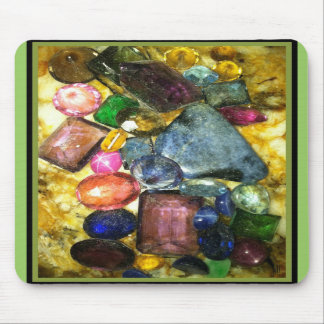 SCATTERED JEWELS GEMTONE PRINT MOUSE PAD