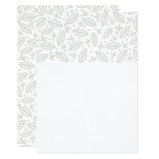 Scattered Leaves Wedding Invitation-white Card