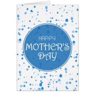 Scattered Petals Blue Happy Mother's Day Card