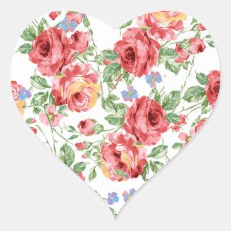 Scattered Roses by BobCatDesign Heart Sticker
