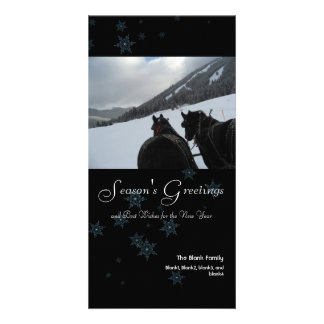 scattered snowflakes 4 holiday photo card