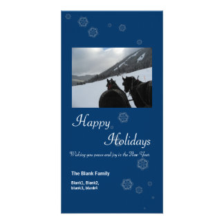 scattered snowflakes 6 holiday photo card
