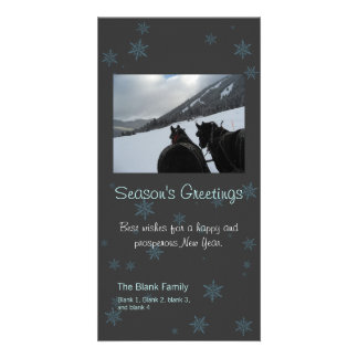 scattered snowflakes holiday photo card