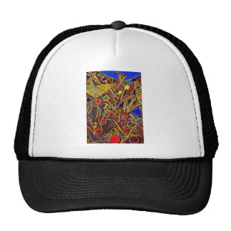Scattered Stationery (abstract expressionism ) Hat