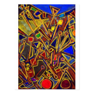 Scattered Stationery (abstract expressionism ) Postcard