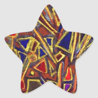 Scattered Stationery (abstract expressionism ) Star Sticker