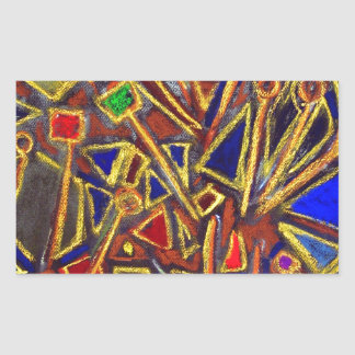 Scattered Stationery abstract expressionism Stickers