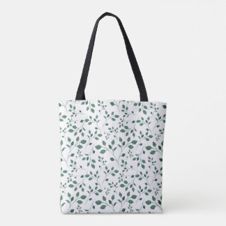 Scattered Watercolor Floral Seamless Pattern Tote Bag