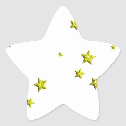SCATTERED YELLOW STARS ACCENTS TEMPLATE BACKGROUND STAR STICKERS