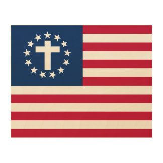 SCC Patriotic Christian Wooden Wall Art Wood Canvases