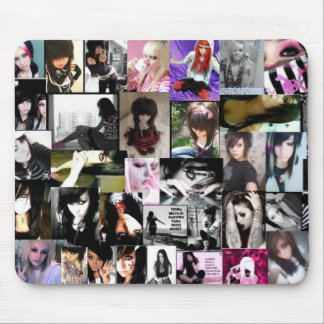 SCENE AND EMO GIRLLz Mouse Pad