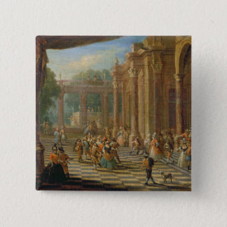 Scene at a Masked Ball 15 Cm Square Badge