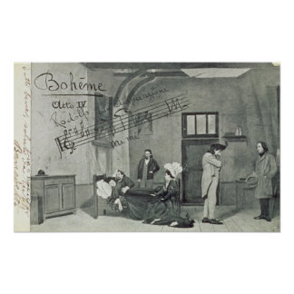 Scene from Act IV of the opera 'La Boheme' Poster
