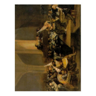 Scene from an Inquisition, by Francisco de Goya Fr Postcard