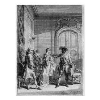 Scene from 'Othello' by William Shakespeare Poster